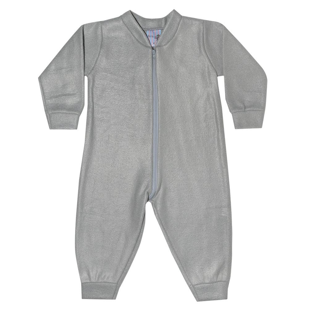 Macacão Bebê Soft Cinza  - Jeito Infantil
