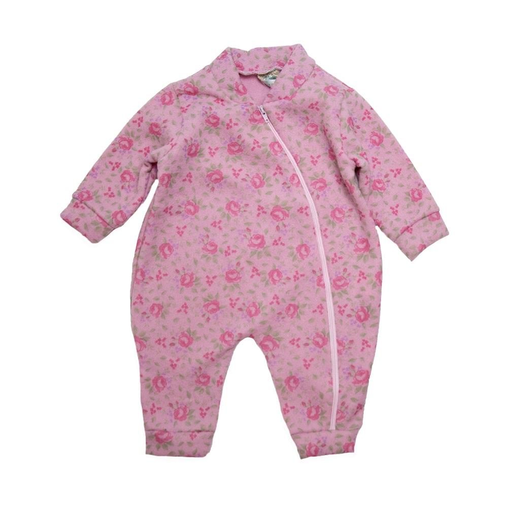 Macacão Bebê Soft Flor  Rosa  - Jeito Infantil