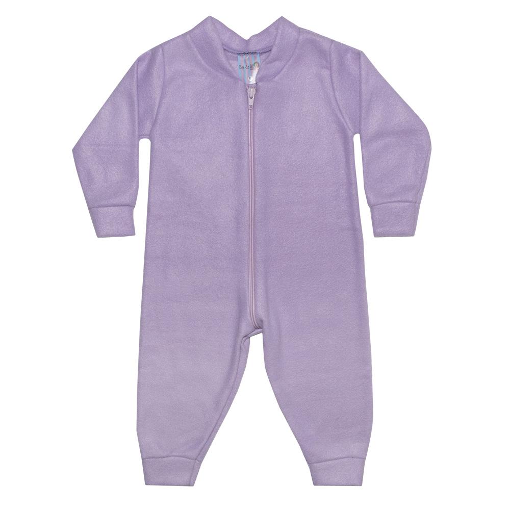 Macacão Bebê Soft Lilás  - Jeito Infantil