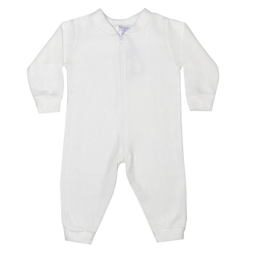 Macacão Bebê Soft Pérola  - Jeito Infantil