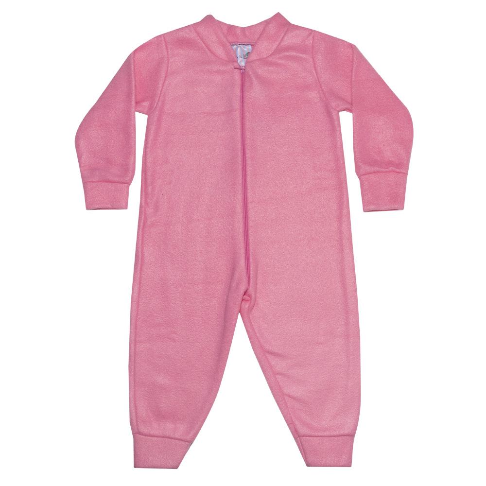 Macacão Bebê Soft Rosa  - Jeito Infantil