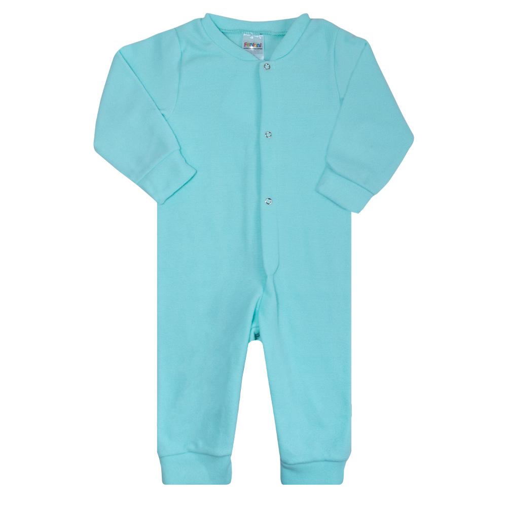 Macacão Bebê Soft Verde  - Jeito Infantil