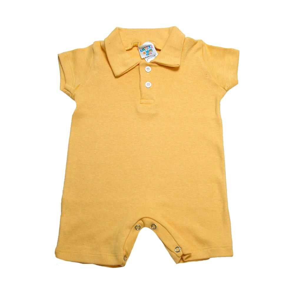 Macaquinho Bebê  Amarelo  - Jeito Infantil