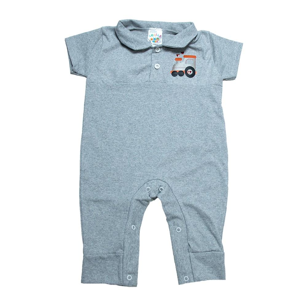 Macaquinho Bebê Aplique Mescla  - Jeito Infantil