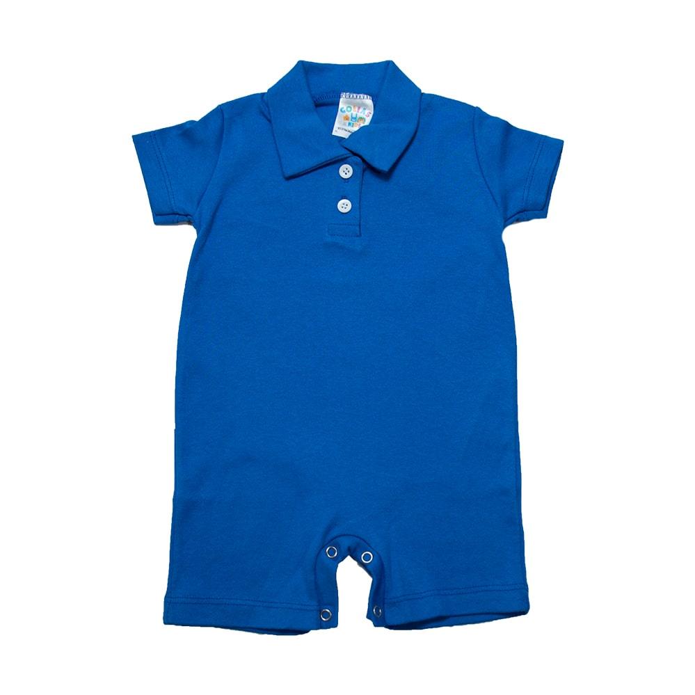 Macaquinho Bebê  Azul Royal  - Jeito Infantil