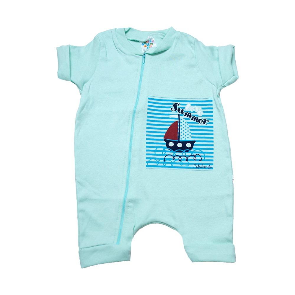 Macaquinho Bebê Barquinho  Verde  - Jeito Infantil