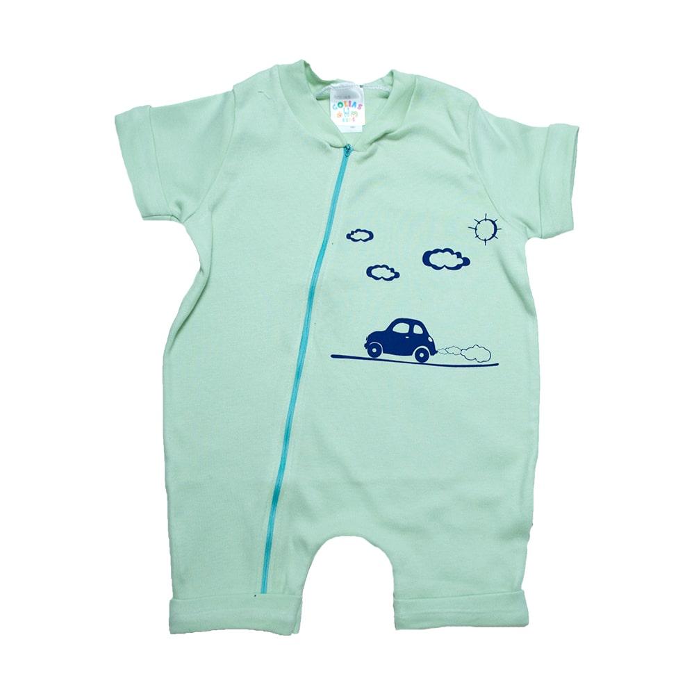 Macaquinho Bebê Carrinho  Verde  - Jeito Infantil