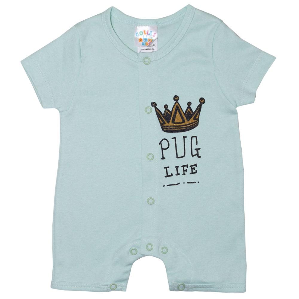 Macaquinho Bebê Coroa  Verde  - Jeito Infantil