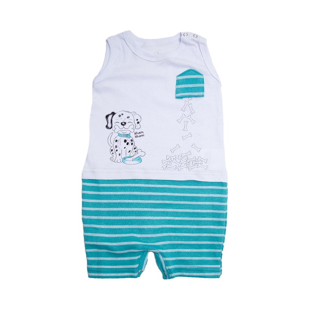 Macaquinho Bebê Dog Branco  - Jeito Infantil