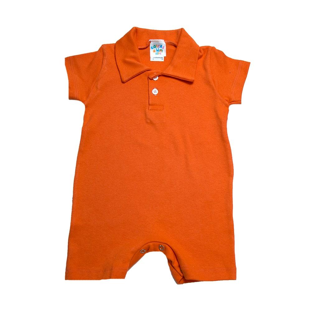 Macaquinho Bebê  Laranja  - Jeito Infantil