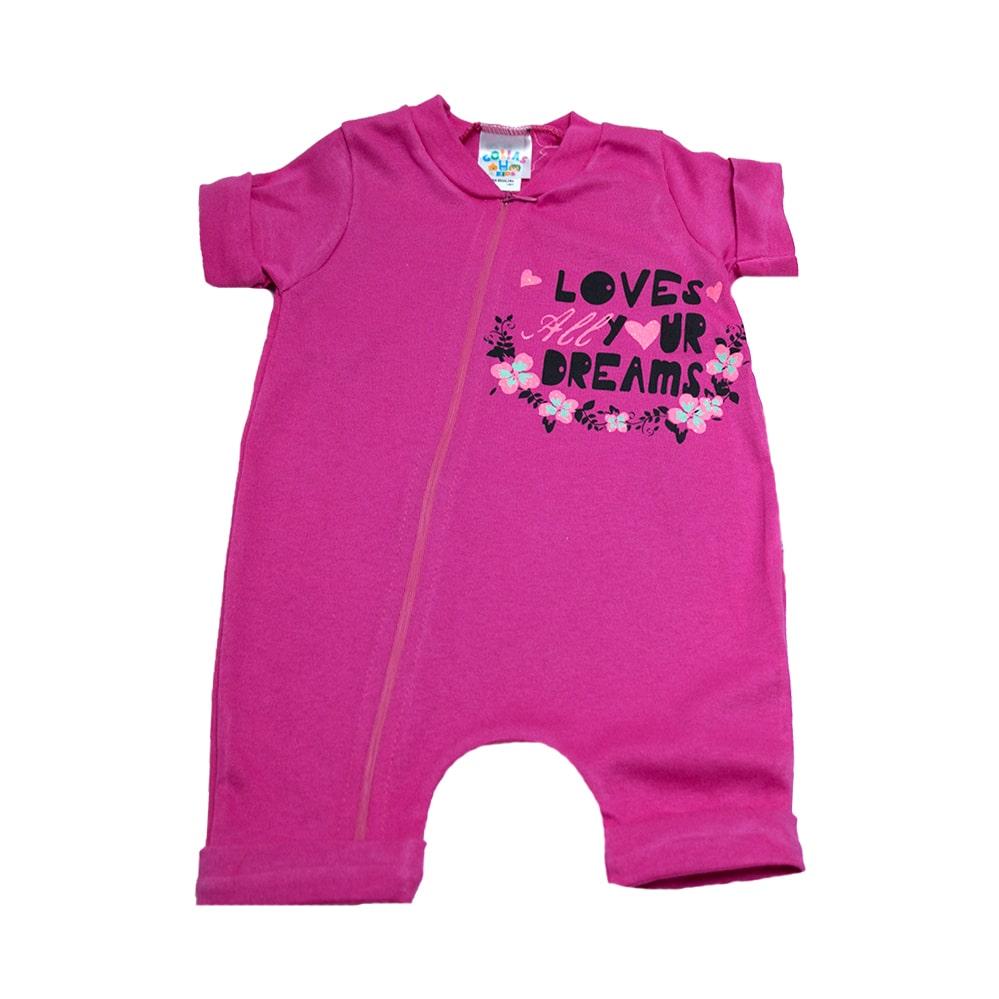 Macaquinho Bebê Loves Pink  - Jeito Infantil
