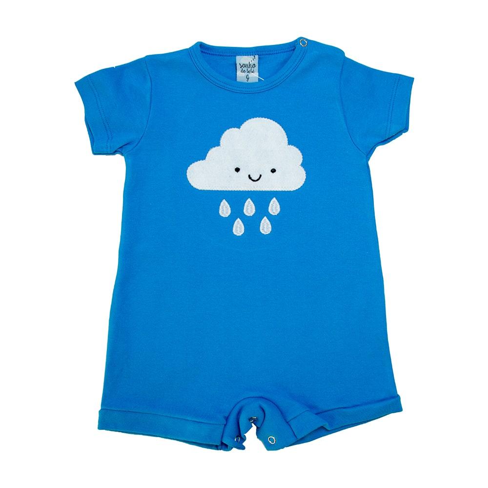 Macaquinho Bebê Nuvem Azul  - Jeito Infantil