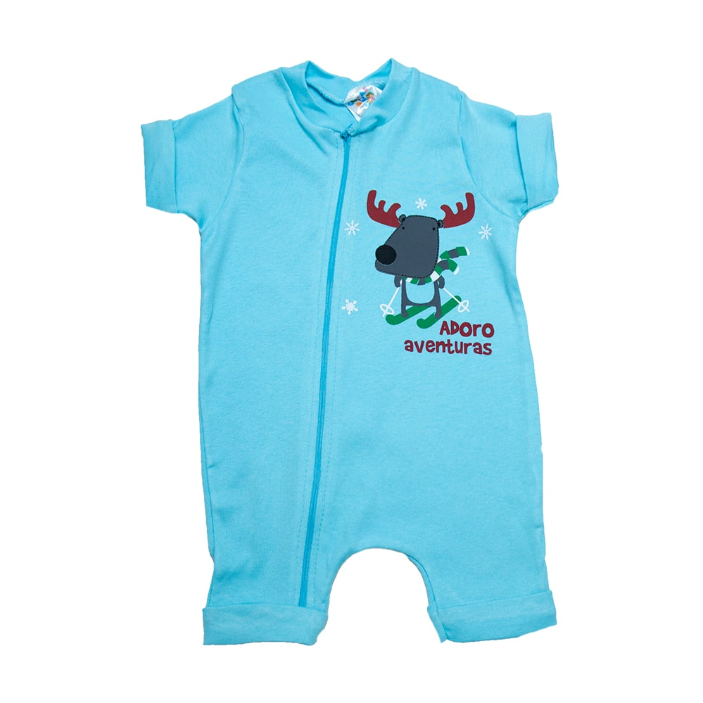 Macaquinho Bebê Rena Azul  - Jeito Infantil