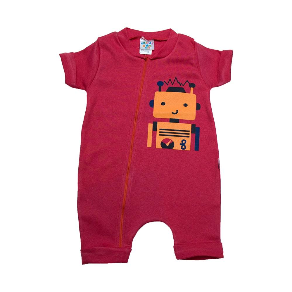 Macaquinho Bebê Robô  Vermelho  - Jeito Infantil