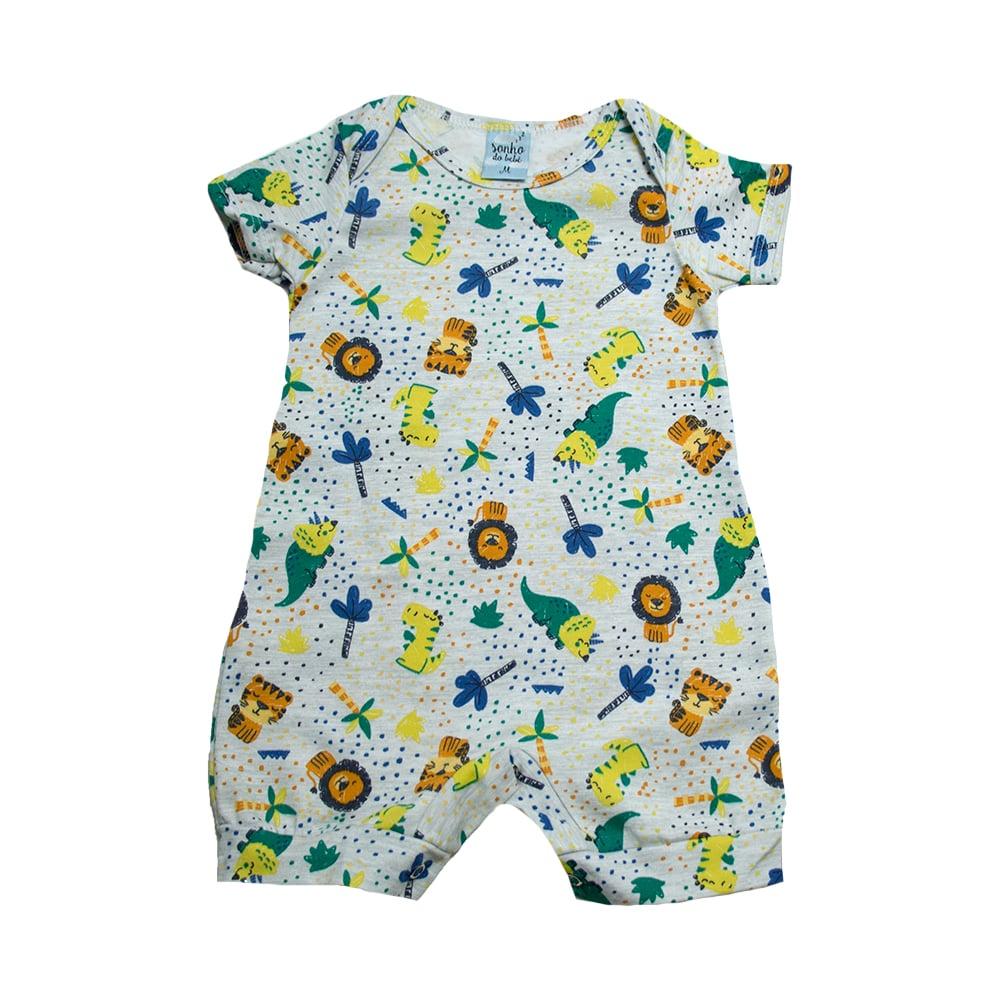 Macaquinho Bebê Safari Mescla  - Jeito Infantil