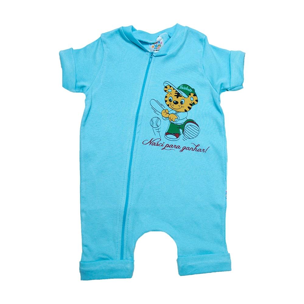 Macaquinho Bebê Tigre Azul   - Jeito Infantil