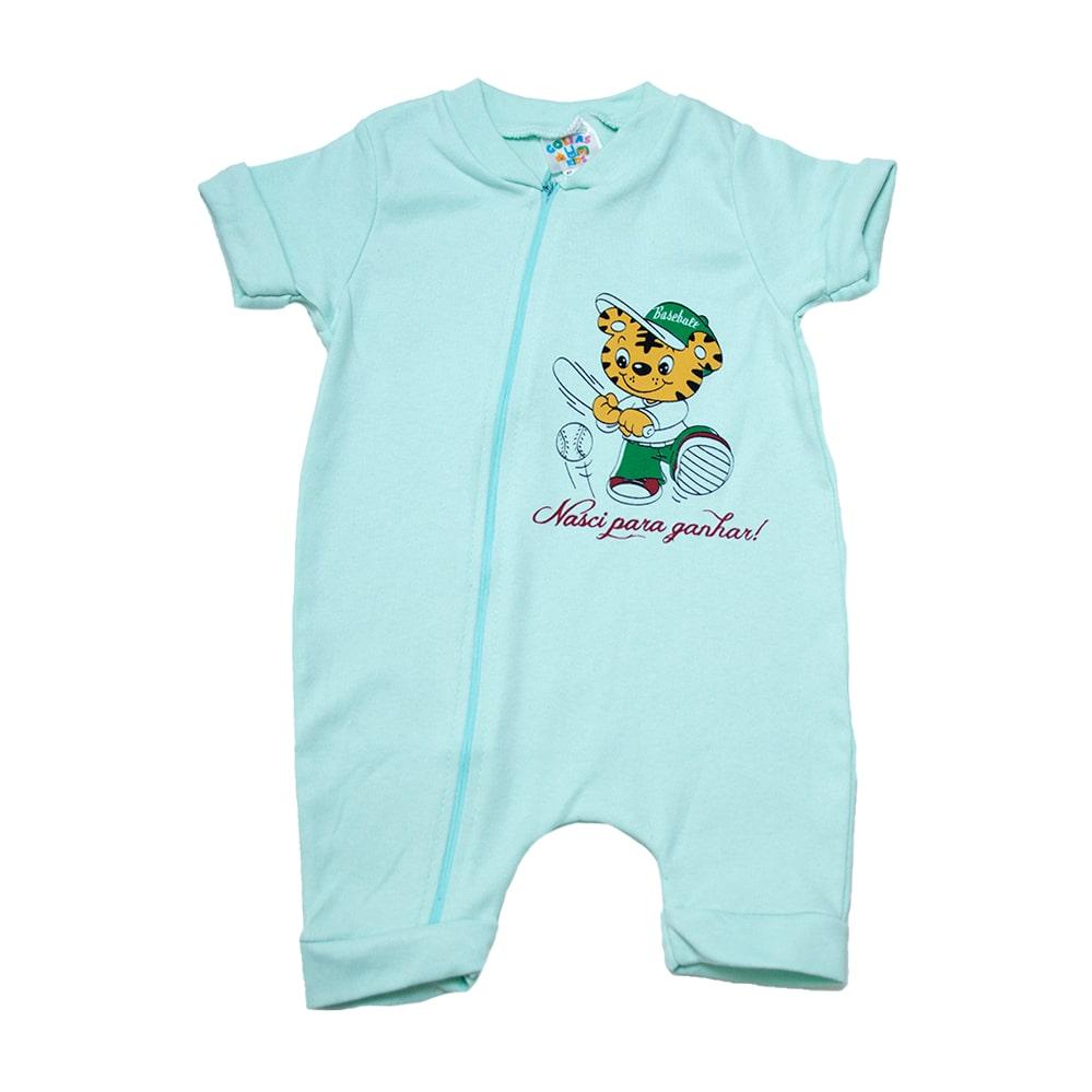 Macaquinho Bebê Tigre  Verde  - Jeito Infantil