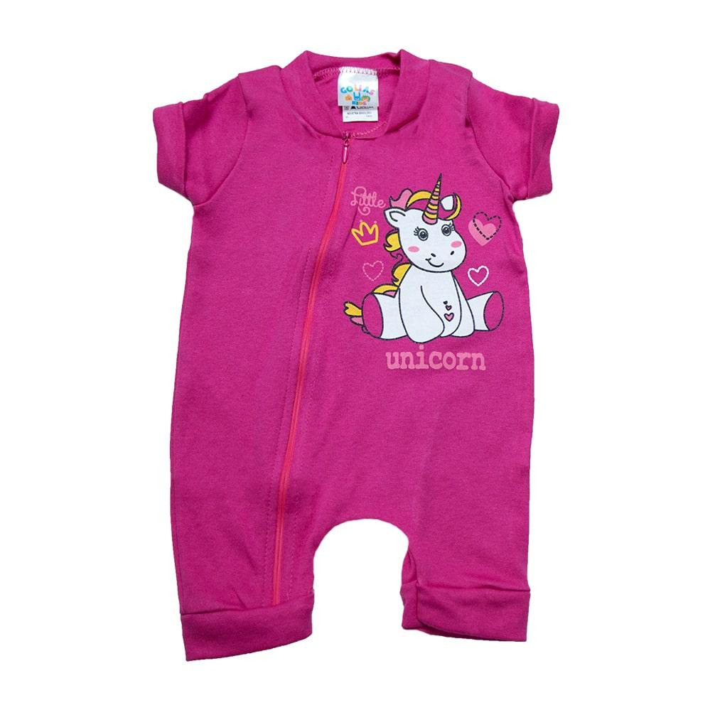 Macaquinho Bebê Unicórnio Pink  - Jeito Infantil