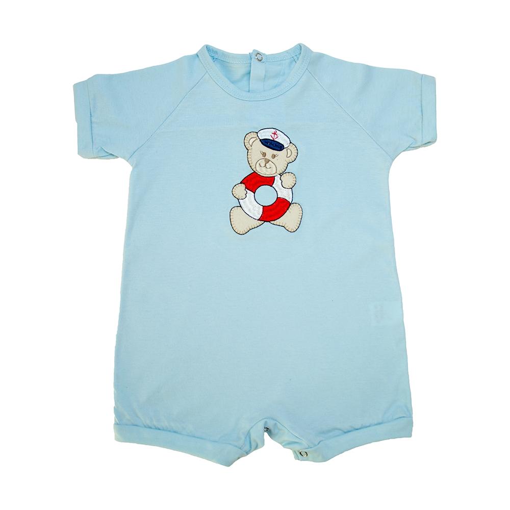 Macaquinho Bebê Urso Marinheiro Azul  - Jeito Infantil