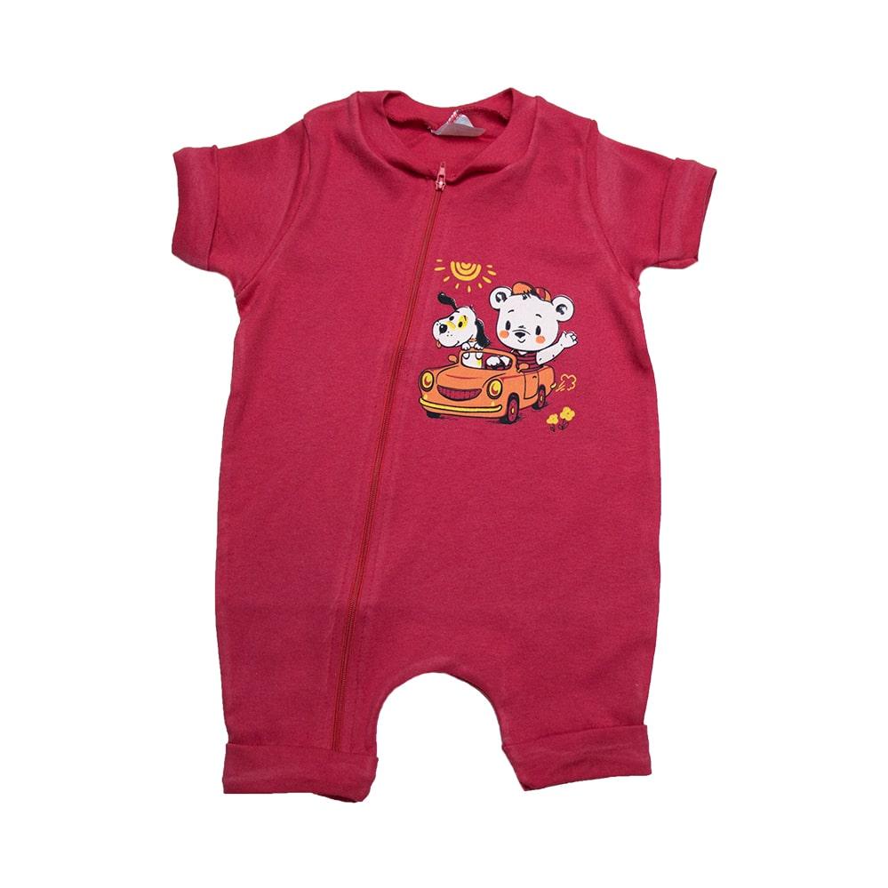 Macaquinho Bebê Urso  Vermelho  - Jeito Infantil