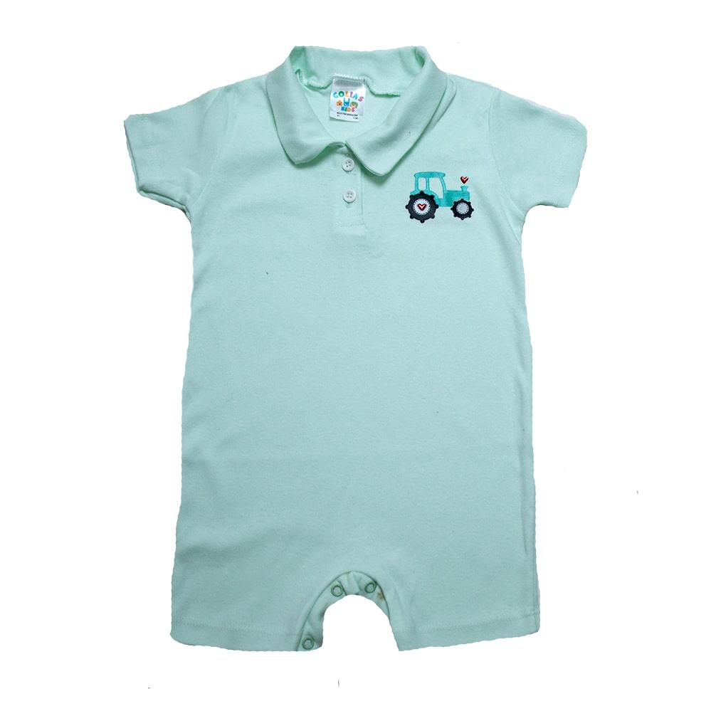 Macaquinho Infantil Com aplique Verde  - Jeito Infantil