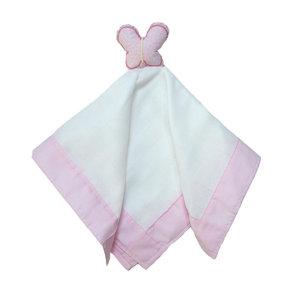 Naninha Bebê Borboleta Rosa  - Jeito Infantil