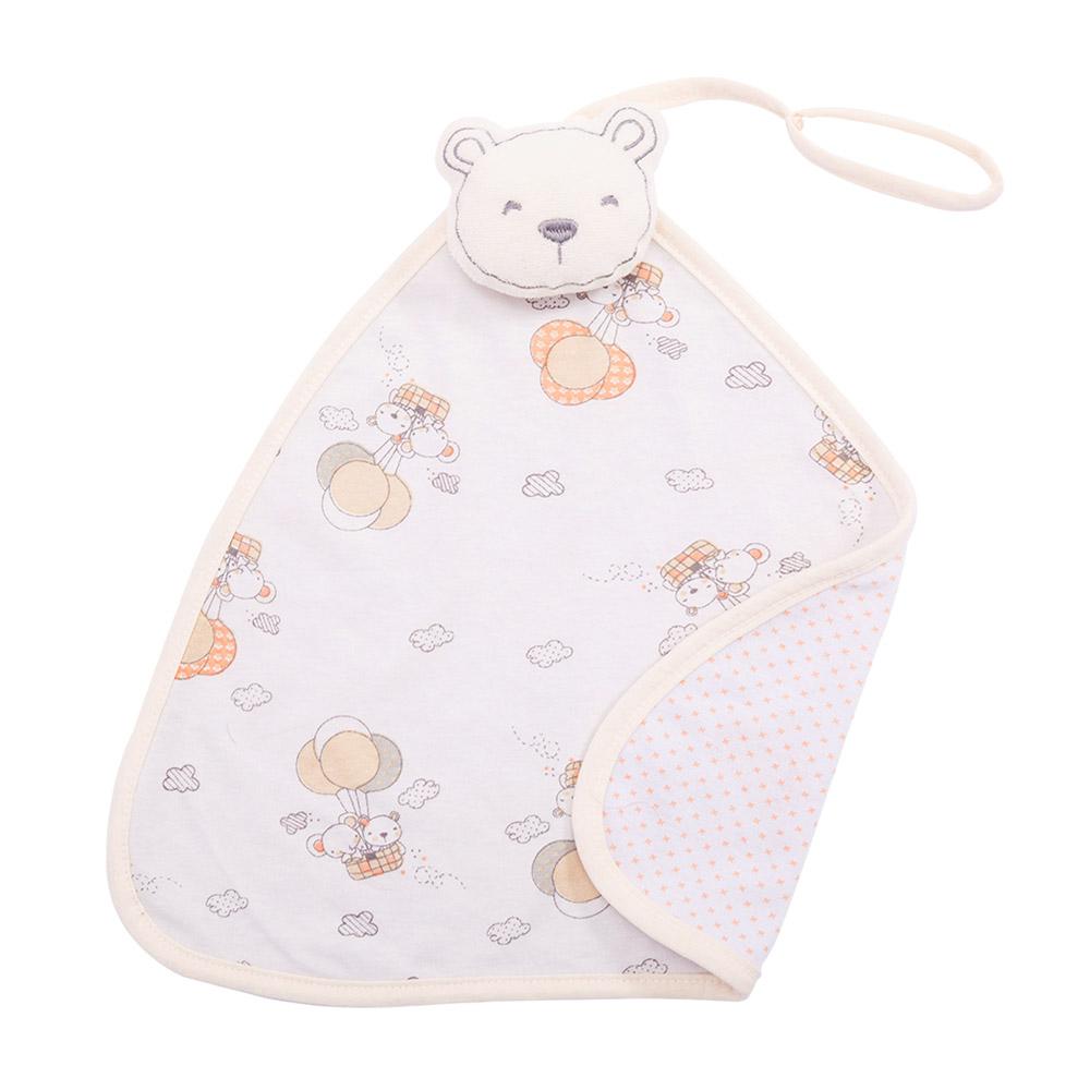 Naninha Bebê Com Prendedor de Chupeta Urso Bege  - Jeito Infantil