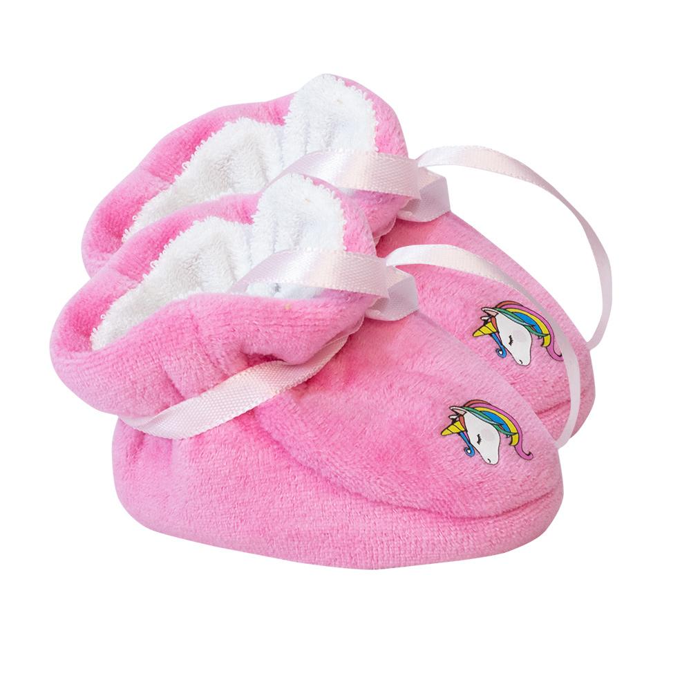 Pantufa Bebê Unicórnio  Pink  - Jeito Infantil
