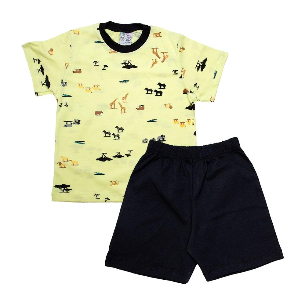 Pijama Infantil Animais Lima  - Jeito Infantil