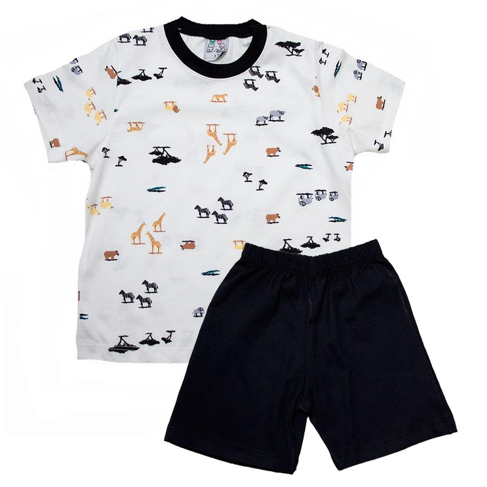 Pijama Infantil Animais Pérola  - Jeito Infantil