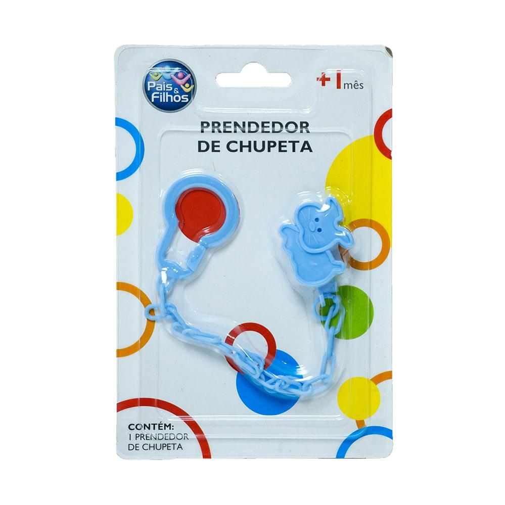Prendedor De Chupeta Gatinho Azul  - Jeito Infantil