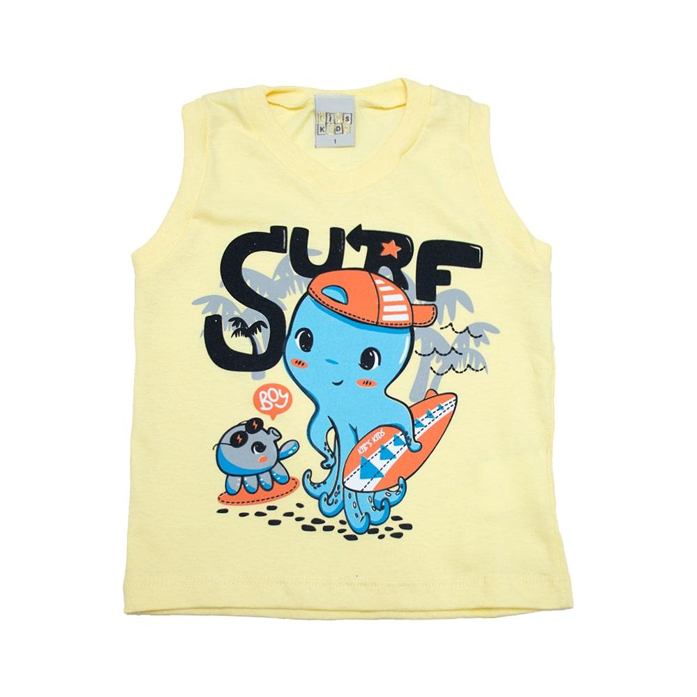 Regata Infantil Surf Amarelo  - Jeito Infantil