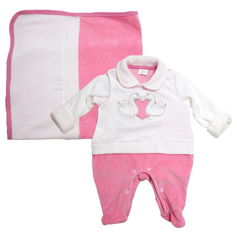 Saída De Maternidade Cisne Rosa  - Jeito Infantil