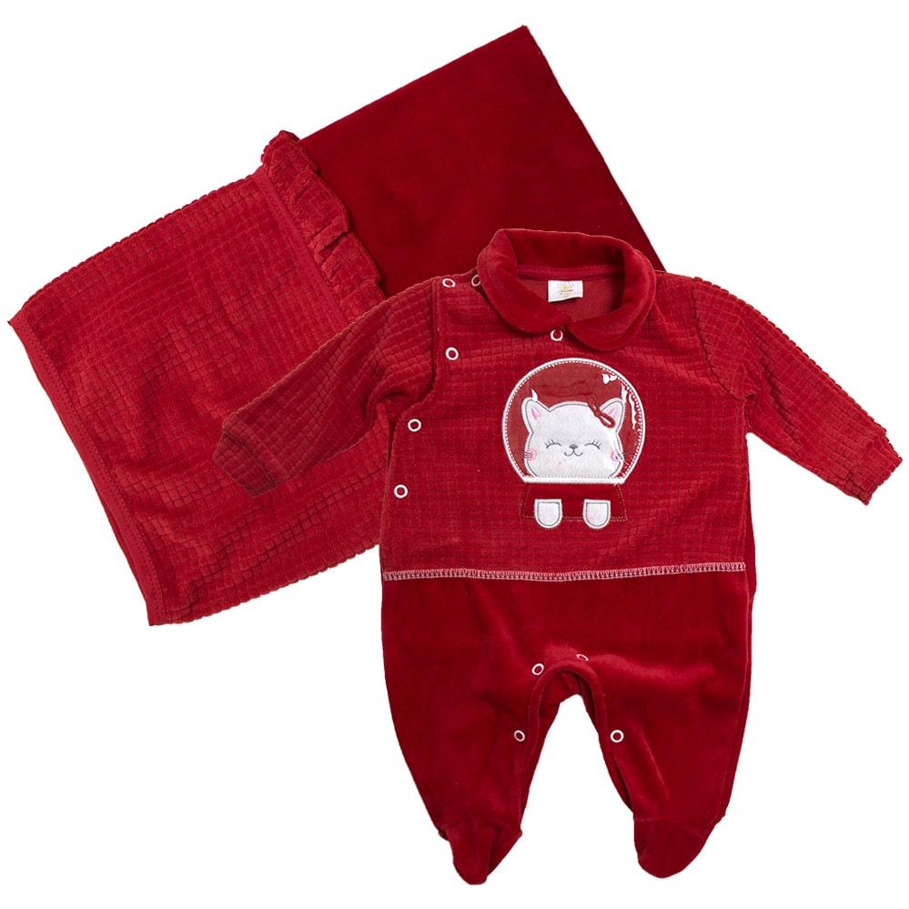 Saída De Maternidade Gatinha Vermelho  - Jeito Infantil