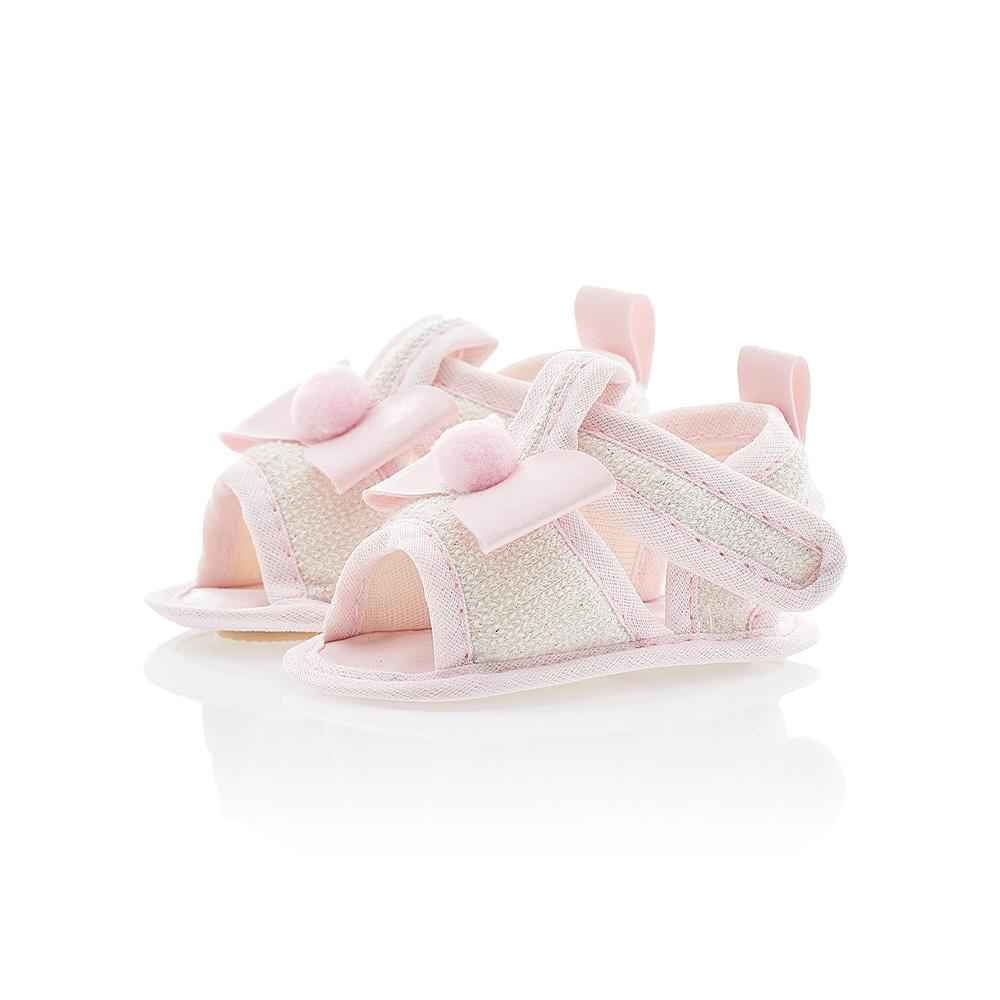 Sandália Bebê Laço Branca  - Jeito Infantil