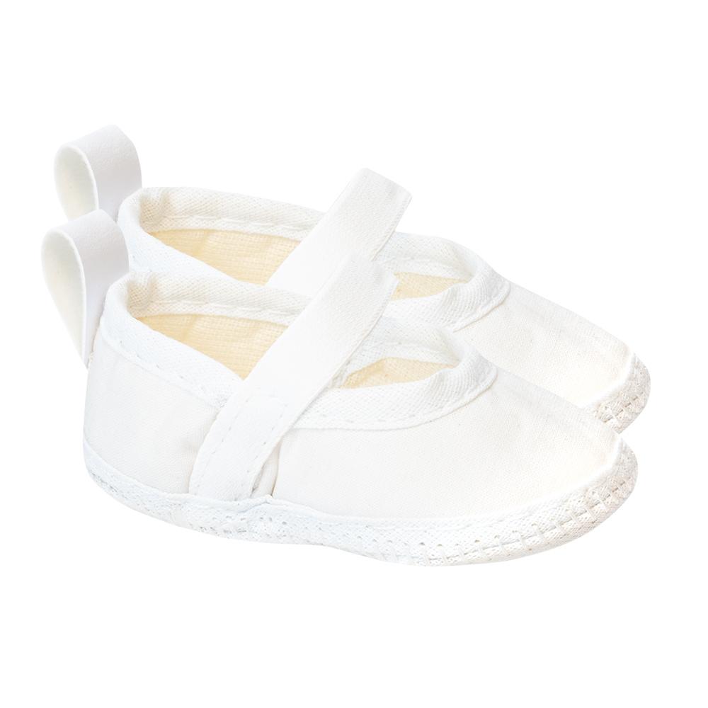 Sapatilha Bebê Branca  - Jeito Infantil