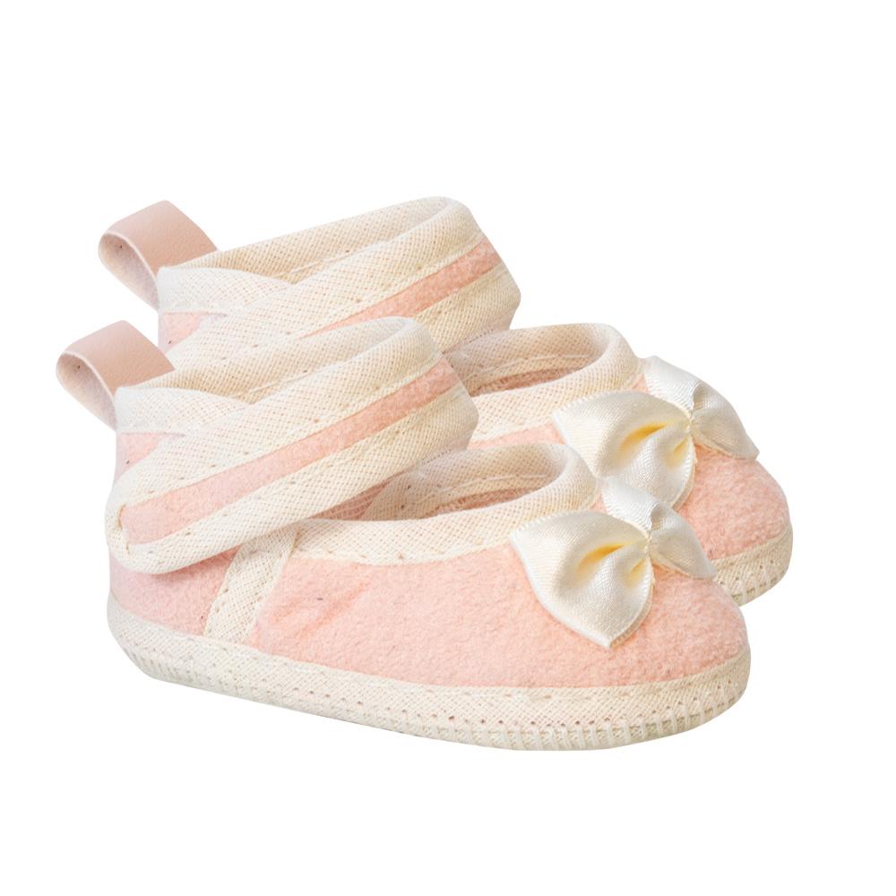 Sapatilha Bebê Com Laço Rose  - Jeito Infantil