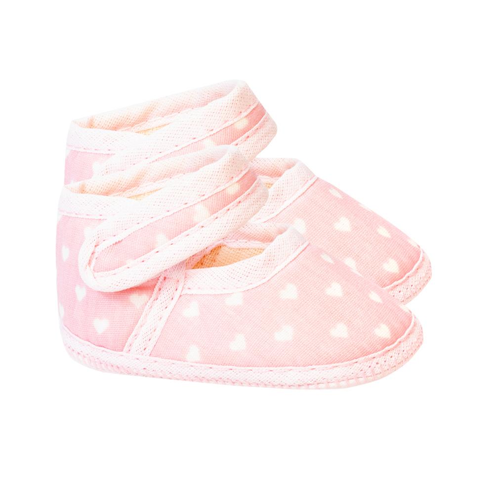 Sapatilha Bebê Corações Rosa  - Jeito Infantil