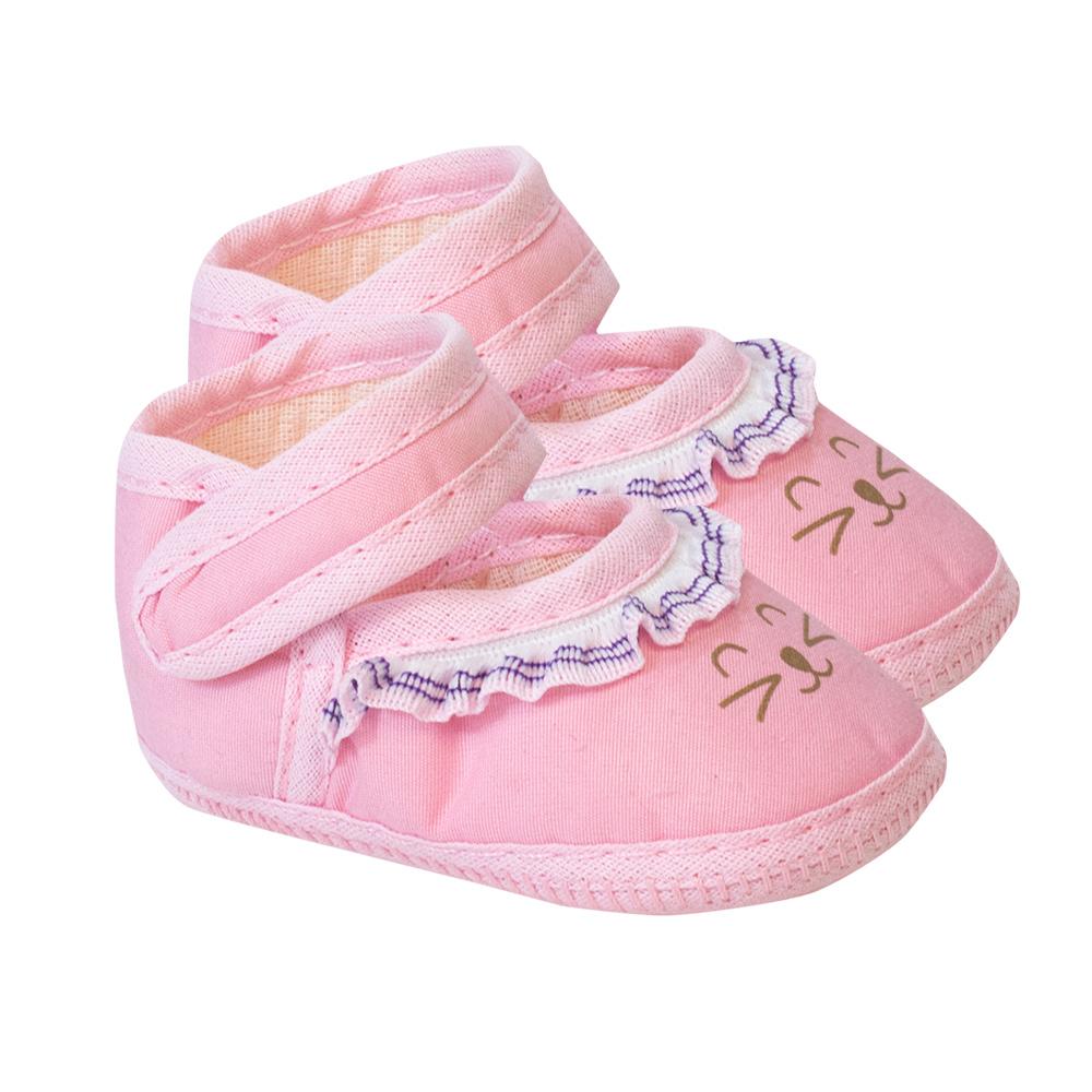 Sapatilha Bebê Gatinha Rosa  - Jeito Infantil