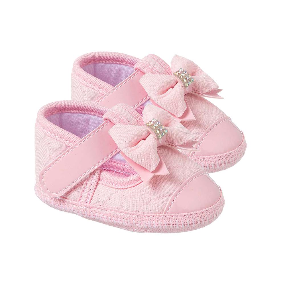 Sapatilha Bebê Laço Rosa  - Jeito Infantil