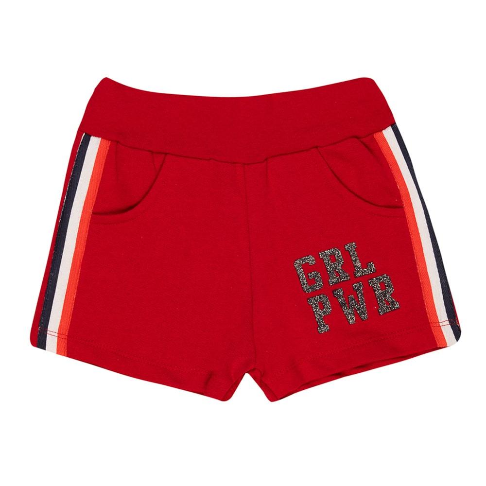 Shorts Infantil Girl Vermelho  - Jeito Infantil