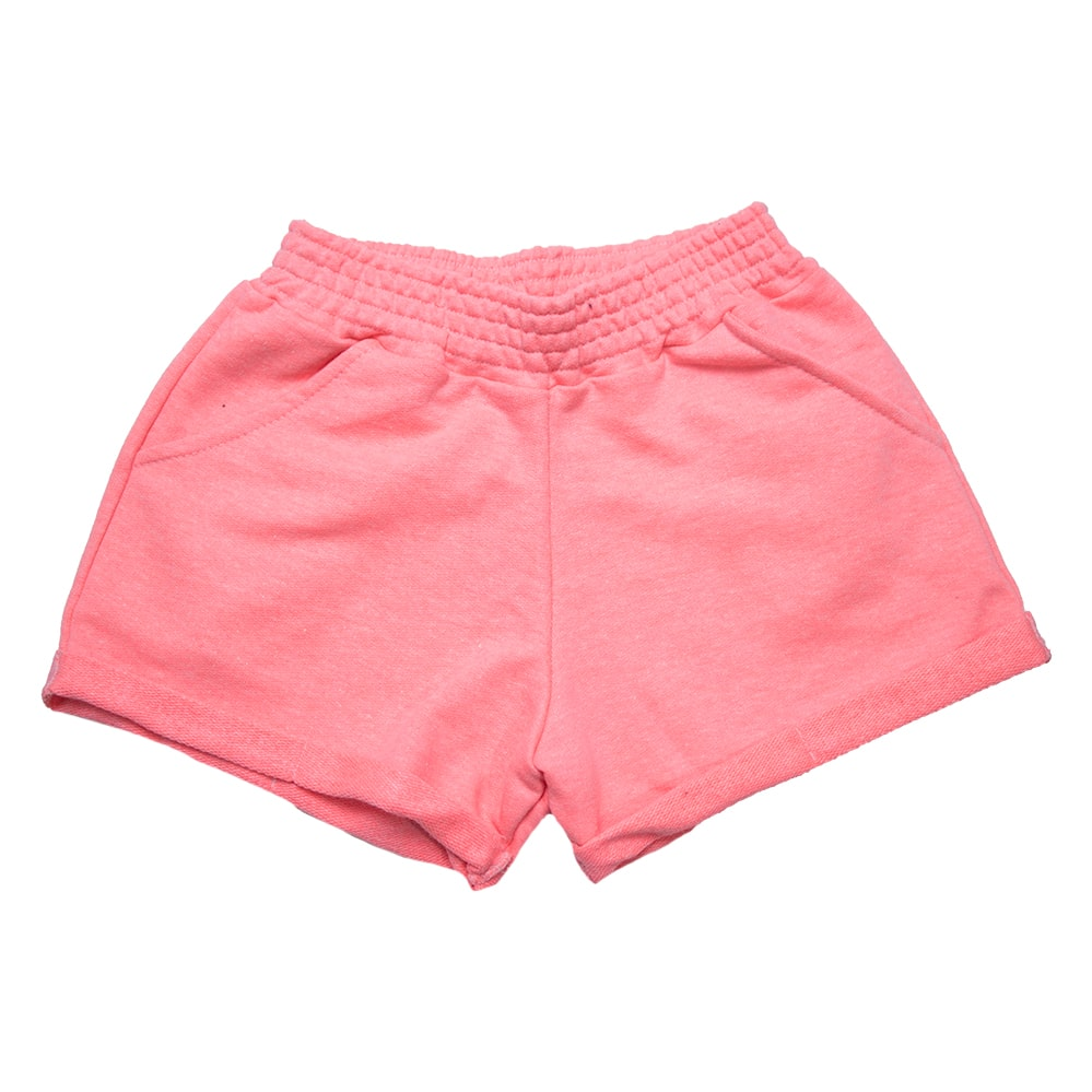 Shorts Infantil/ Juvenil Neon Rosa  - Jeito Infantil