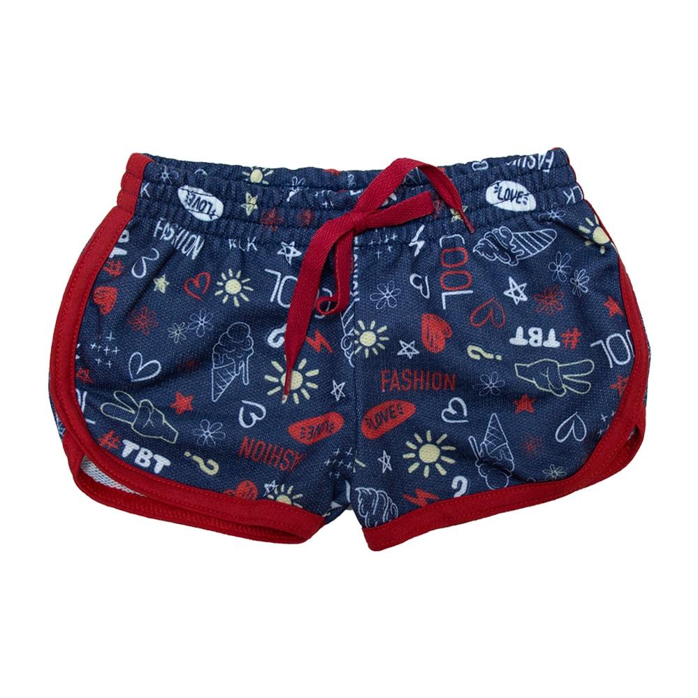 Shorts Infantil Marinho  - Jeito Infantil