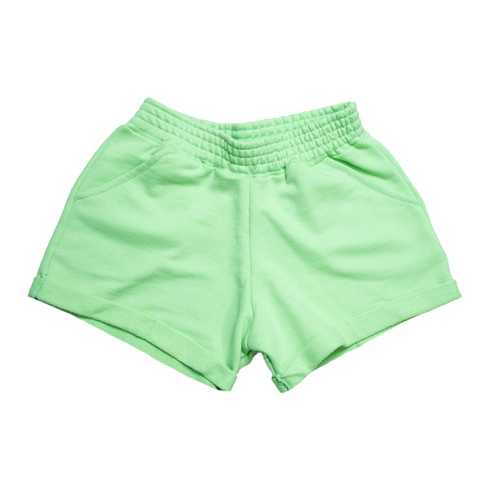 Shorts Infantil Neon Verde  - Jeito Infantil