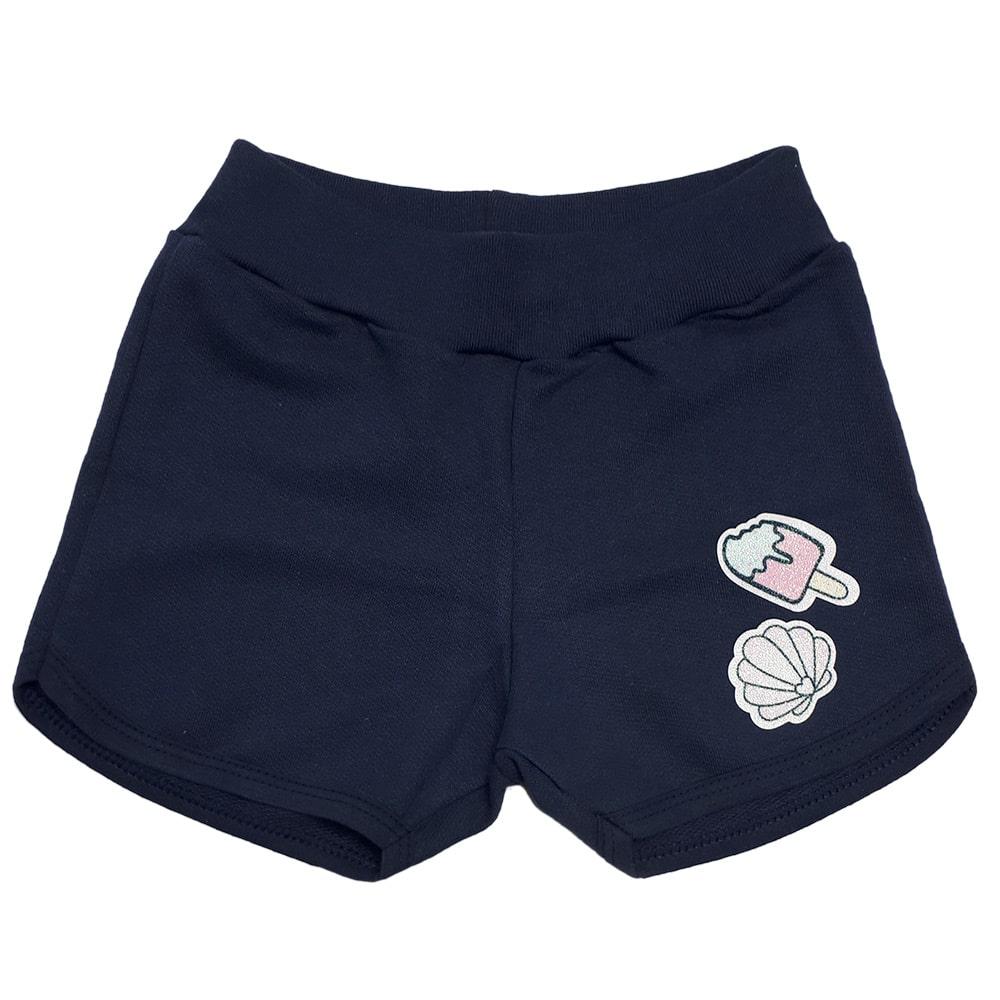 Shorts Infantil Patch Marinho  - Jeito Infantil