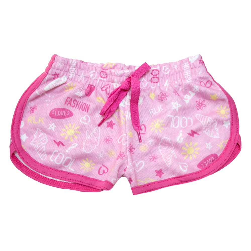 Shorts Infantil Rosa  - Jeito Infantil