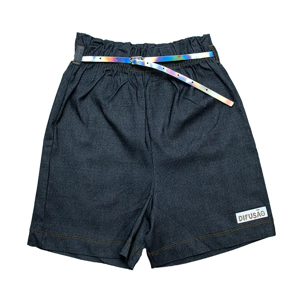 Shorts Juvenil Bengaline Com Cinto Preto  - Jeito Infantil