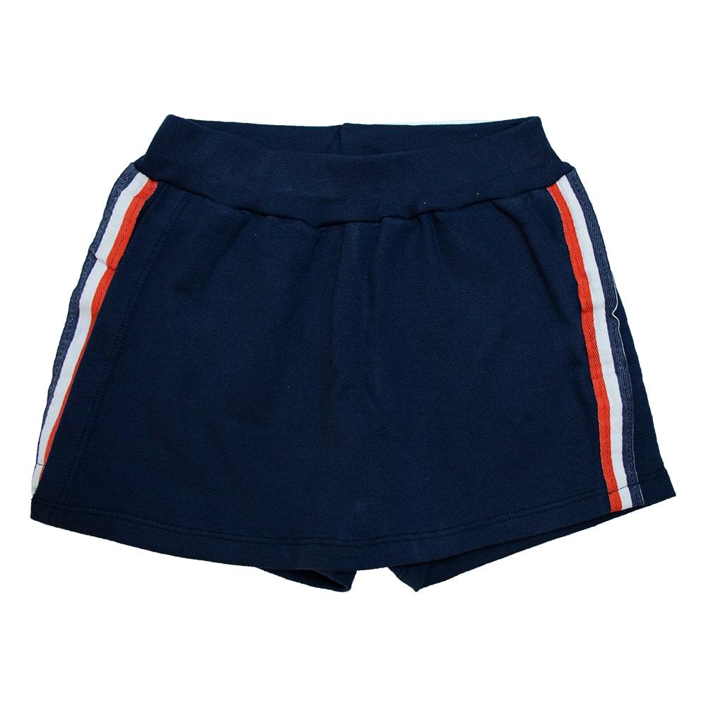 Shorts juvenil Listras Marinho  - Jeito Infantil