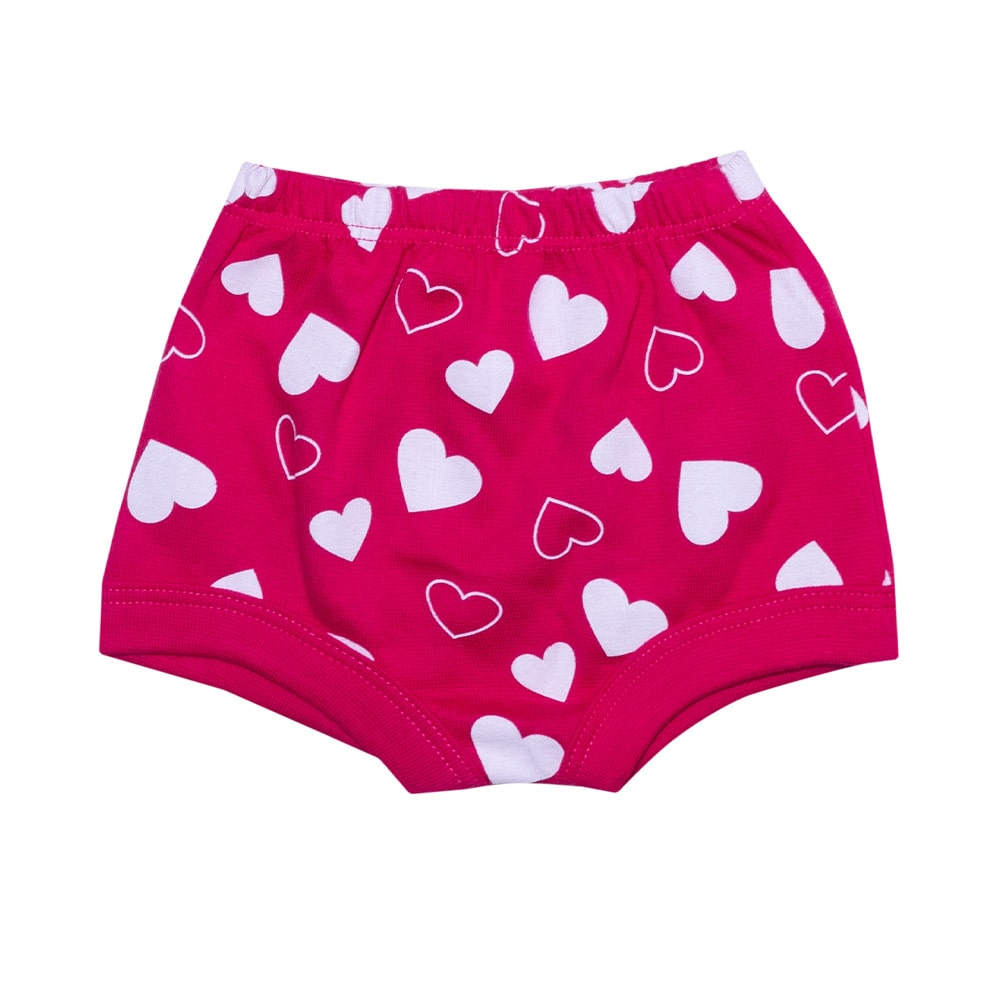 Tapa Fralda Bebê Corações Pink  - Jeito Infantil