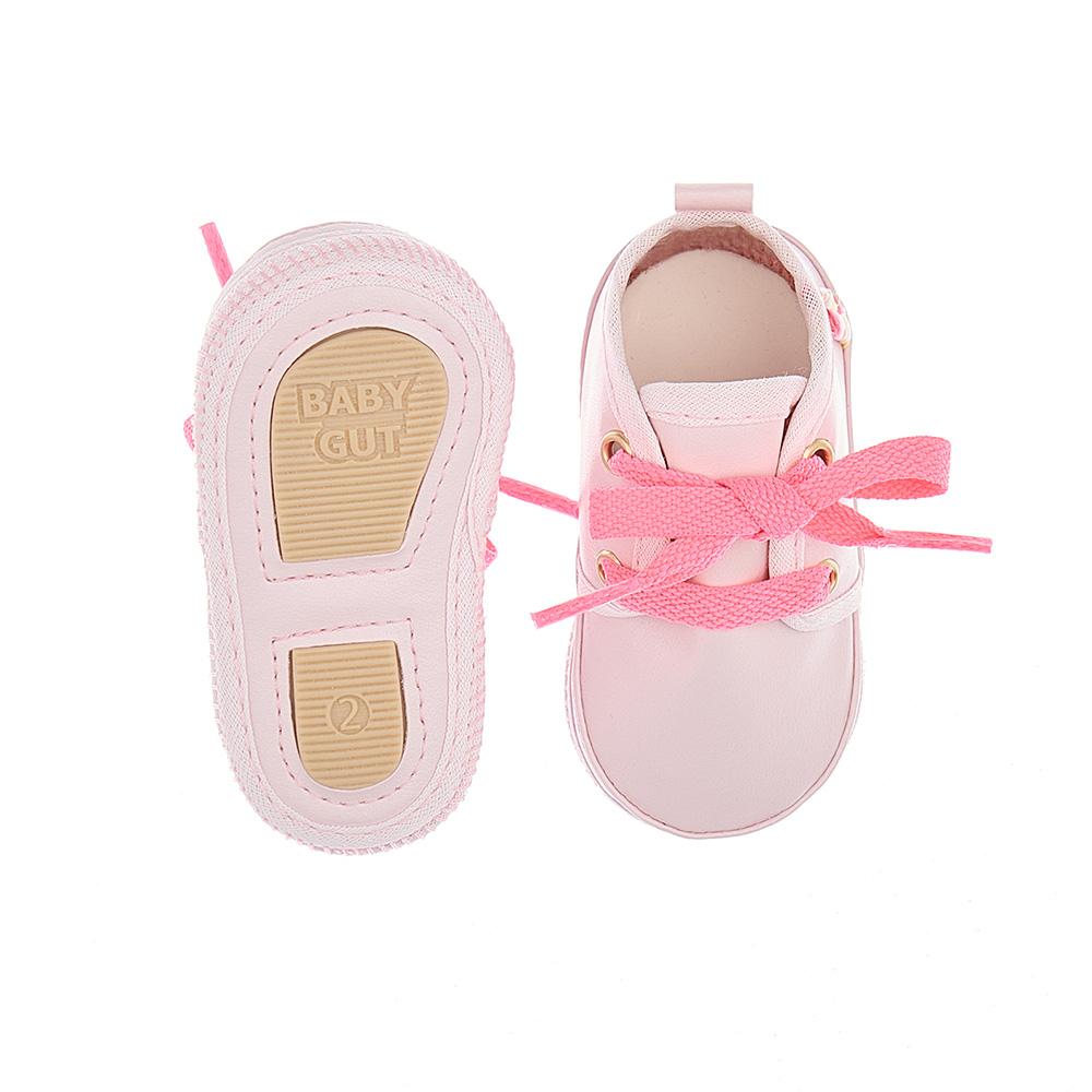 Tênis Bebê Com Cadarço Rosa  - Jeito Infantil